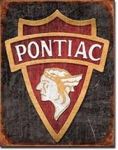 Pontiac V8 Car Dealer Service Parts Garage Retro Vintage Style Metal Tin Sign