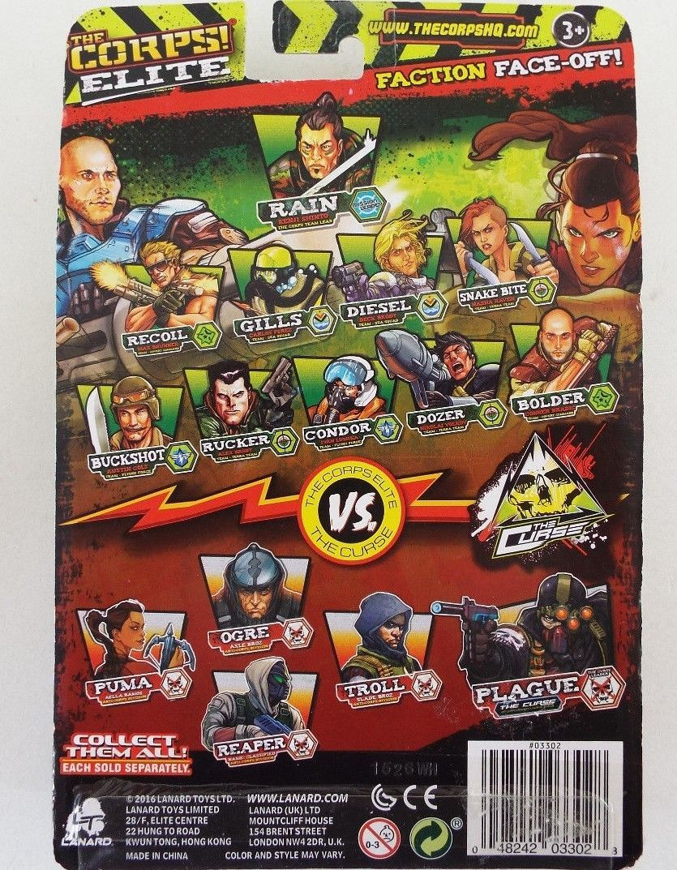 Lanard The Corps! Elite-Faction Face Off-2 Figure Pack-Ogre vs. Snakebite