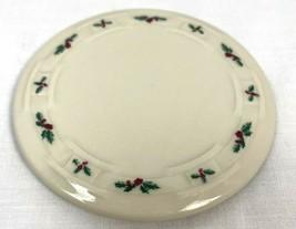 Longaberger Pottery Christmas Holly Berry Coaster - $12.34