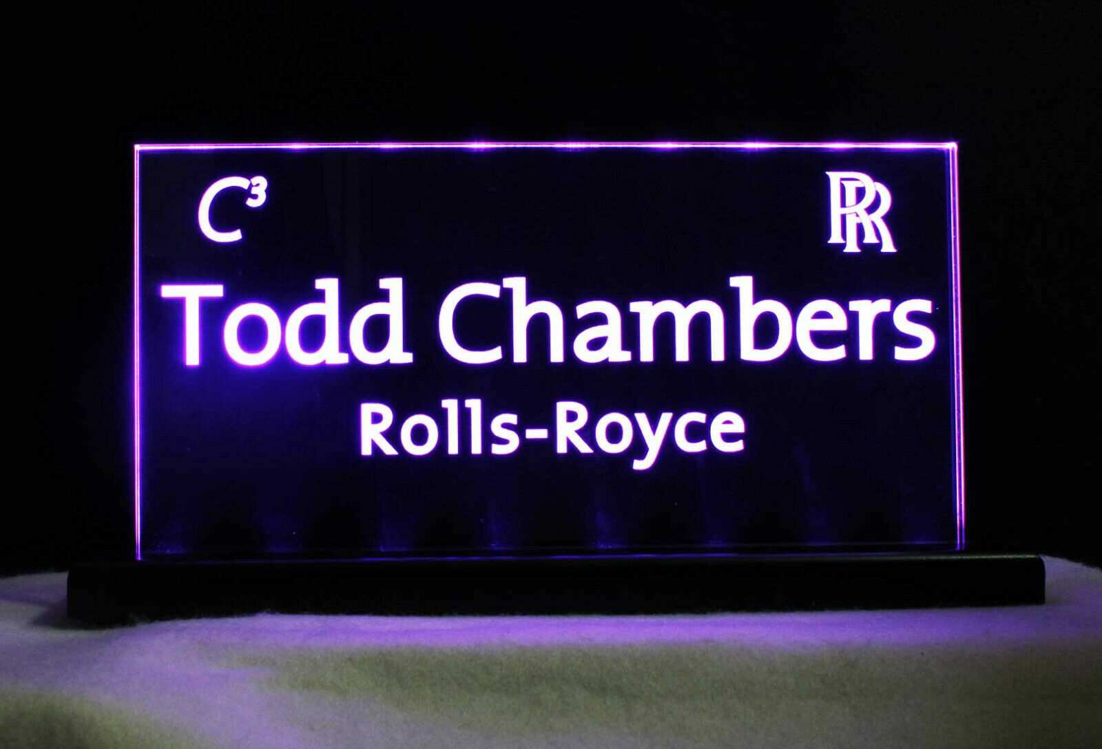 LED Rechargeable Battery operated Name Plate, Custom Sign - Award - Trophy image 10