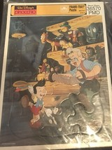 Vintage Walt Disney's Pinocchio Golden Frame-Tray Puzzle 4173-17 Special Edition - $21.78