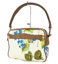 Authentic PRADA Beige Nylon Flower Print Tote Hand Bag Purse #32795 - $249.00