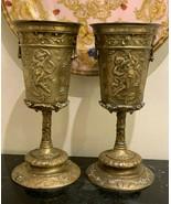 Antique Pair of French Bronze Art Nouveau Chalices - $1,200.00