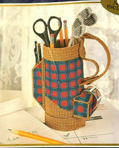 Bucilla Golf Bag Desk Set Plastic Canvas Kit Vintage Fathers Day Birthday Sealed - $29.37