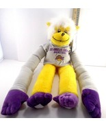 Los Angeles Lakers NBA Basketball Rally Monkey Gray Sweater Hoodie Plush... - $14.25