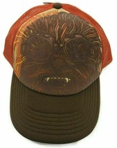 Star Wars Chewie Snapback Adjustable Hat Chewbacca Cap Red Brown - $14.84