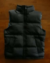 Gap Kids Boys Puffer Vest Size XL X- Large 12 Navy Blue Full Zipper  - $14.99