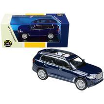 BMW X7 Tanzanite Blue Metallic 1/64 Diecast Model Car by Paragon PA-55193 - $23.29