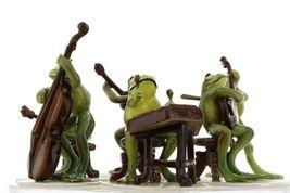 Hagen Renaker Froggy Mountain Breakdown Complete Bluegrass Frog Band 6 Piece Set image 4