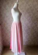 BLUSH PINK Side Split Long Chiffon Skirt Women Maxi Skirt Beach Skirts NWT image 3