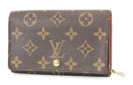 Authentic LOUIS VUITTON Monogram Long Wallet Zippered Coin Purse #37082 - $175.00