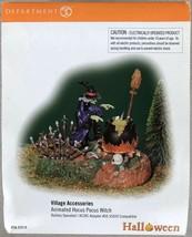 Department 56 Halloween Animated Hocus Pocus Witch Village Accessories #... - $29.95