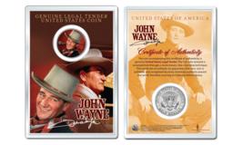 JOHN WAYNE - Duke OFFICIAL JFK Half Dollar U.S. Coin in PREMIUM HOLDER - $10.35