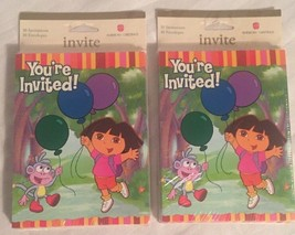 Dora the Explorer Party Invitations. 20 Total. Nick Jr. 2003. Guest Chec... - $12.59