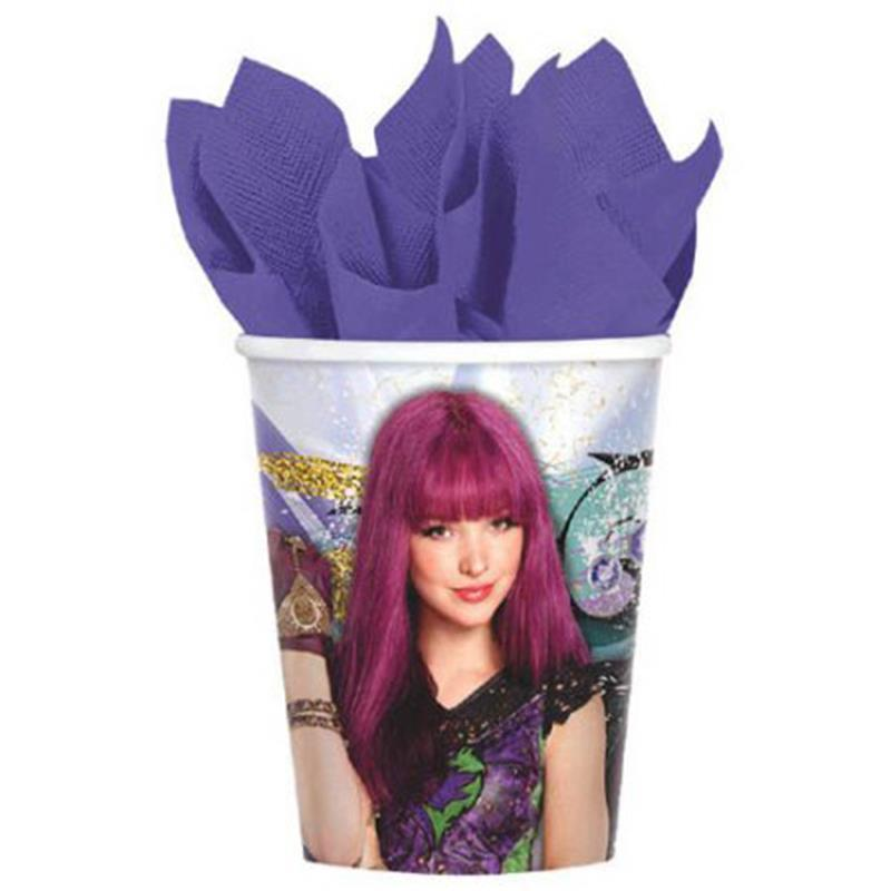 Descendants 2 Beverage 9 oz Cups 8 Per Package Birthday Party Supplies Amscan