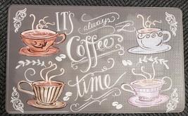 "NONSLIP REVERSIBLE FLOOR MEMORY FOAM MAT (18"" x 30"") PVC, IT'S COFFEE TIME - $24.74"