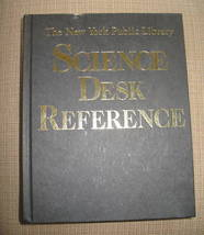 NEW YORK PUBLIC LIBRARY SCIENCE DESK REFERENCE HC 1995 - $6.51
