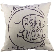 "Cotton Linen Square Decorative Throw Pillow Case Cushion Cover 18"" x 18... - $9.00"