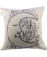"Cotton Linen Square Decorative Throw Pillow Case Cushion Cover 18"" x 18... - $11.63 CAD"