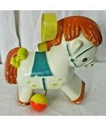 Vintage Fisher Price Toy, No. 190, Pony Music Box, 1960s Crib toy - $14.84