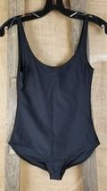 BDG women S/P sleeveless body suit tank top black shiny stretchy disco - $18.76