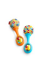 Rattle n Rock Maracas Blue/Orange Exclusive Grasping And Rattling Gives ... - $9.04