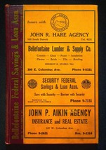 Polk's 1950 Bellefontaine Ohio City Directory With Classified & Buyers G... - $17.05