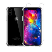 iPhone X Screen Protector with iPhone X Clear Transparent Case TPU Soft... - $7.49
