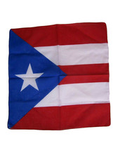 "Wholesale Lot 6 22""x22"" Puerto Rico Rican Light Royal Blue Bandana - $15.55"