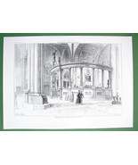 ARCHITECTURE PRINT : ITALY Interior of Verona Cathedral - $16.20