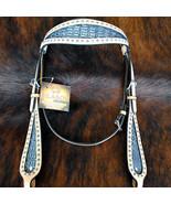 Hilason Western Horse Headstall Bridle American Leather Crocodle Embosse... - $64.30