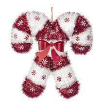 Darice Christmas Candy Cane Decor: Tinsel, 17 x 16 inches w - $9.99