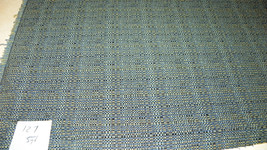 Blue Yellow Tweed Print Upholstery Fabric  1 Yard  R127 - $19.95