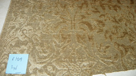 Gold Print Cut Velvet Upholstery Fabric 1 Yard  R169 - $54.95
