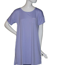 Lands End Women Small (6-8) Petite Short Sleeve Knee Length Gown, Lavend... - $25.00