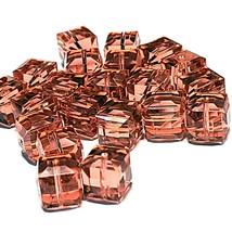 8mm Cube PADPARADSCHA SWAROVSKI® Crystal Beads #5601 - 5 BEADS - (#781) - $5.50