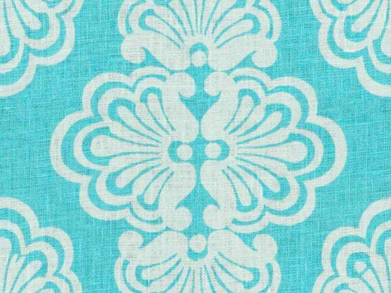3.5 yards Lee Jofa Upholstery Fabric Shell We Linen Lilly Pulitzer Print Blue EH