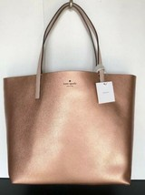 New Kate Spade New York Mya Arch Place Reversible Tote with Pouch Rose Gold - $129.00