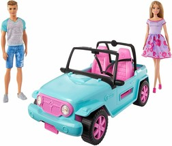 Barbie - Doll And Ken With Car all-Terrain, Doll With Accessories Mattel GHT35 - $307.97