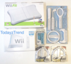 Nintendo Wii Sports White Console System Bundle + Wii Fit and Extra Acce... - $548.29