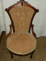 Walnut Carved John Jelliff Sidechair / Parlor Chair  (SC26) - $699.00