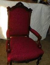Walnut Carved Parlor Chair Armchair   (AC73) - $1,199.00