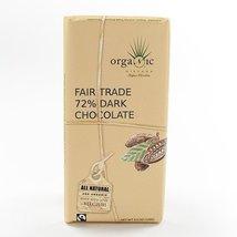Organic Fair Trade Dark Belgian Chocolate Bar (72%) (3.5 ounce) - $5.99
