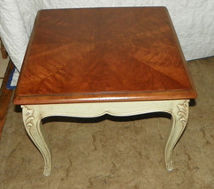 Walnut Henredon End Table with Book Match Veneer Top  (T215) - $399.00