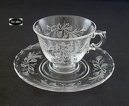 Fostoria Heather Cup And Saucer - $11.95