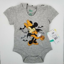 Disney Minnie Mouse Halloween One Piece Bodysuit 3-6 Months Mouse Ear Bo... - $9.89