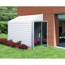 Outdoor Steel 7 x 4-ft Storage Shed with Sloped Roof - $513.24