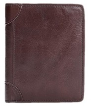 West Leathers Men's RFID Blocking Bifold Slim Full Grain Leather Leather... - $17.17