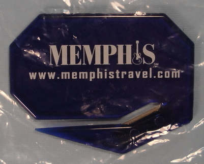 Memphis Travel Logo Guitar Promotional Letter Opener Promo Advertising