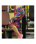 Sports Yoga Fitness Ninth Trousers Printing Dry Fasteventh trousers - $20.99